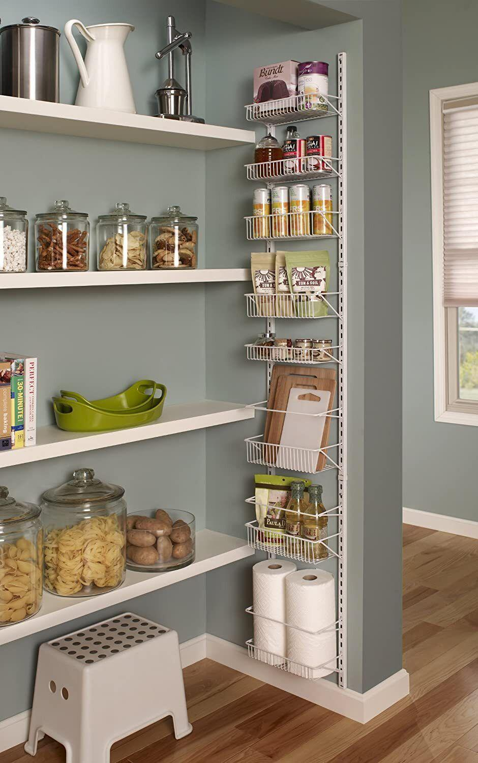 """Perfect for anyone who's lacking in shelf space. This'll add some much-needed storage in your pantry, kitchen, bathroom, garage -- you name it!<br /><br /><strong>Promising review:</strong>""""I love this door organizer!!! I used Command strip hooks(the ones with the metal hook but plastic back) to keep the organizer extra stable. I used the bottom shelf to store my plastic wrap, foil, wax paper, and more, so if you're not needing storage for these, you should be able to use all the shelves.<strong>This organizer has really helped alleviate my pantry clutter!</strong>I highly recommend this item!!!"""" --<a href=""""https://amzn.to/3xUgRcT"""" target=""""_blank"""" rel=""""noopener noreferrer"""">Super Momx2</a><br /><br /><strong>Get it from Amazon for <a href=""""https://amzn.to/3o0WeXN"""" target=""""_blank"""" rel=""""noopener noreferrer"""">$33.99+</a> (available in two sizes).</strong>"""