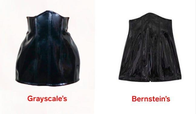 grayscale danielle bernstein skirt comparison labeled large