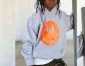 """<p><strong>King + Lola</strong></p><p>kingandlola.com</p><p><strong>$54.99</strong></p><p><a href=""""https://kingandlola.com/collections/frontpage/products/happy-season-sweatshirt"""" rel=""""nofollow noopener"""" target=""""_blank"""" data-ylk=""""slk:Shop Now"""" class=""""link rapid-noclick-resp"""">Shop Now</a></p><p>Teens have a reputation for being surly, but you know how to put a smile on their face ... or at least their sweatshirts. You can also get this happy emblem on a <a href=""""https://kingandlola.com/products/tye-dyed-happy-t-shirt"""" rel=""""nofollow noopener"""" target=""""_blank"""" data-ylk=""""slk:tie-dyed t-shirt"""" class=""""link rapid-noclick-resp"""">tie-dyed t-shirt</a>. </p>"""