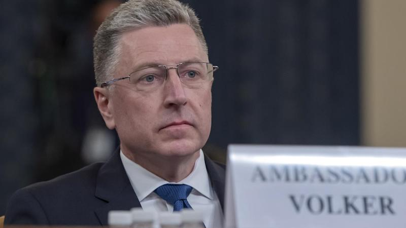 Former US Special Representative for Ukraine Kurt Volker testifies at the Trump impeachment inquiry