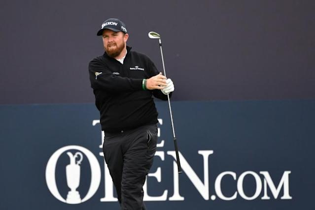 Ireland's Shane Lowry moved into a share of the lead at the British Open on Friday (AFP Photo/Paul ELLIS)