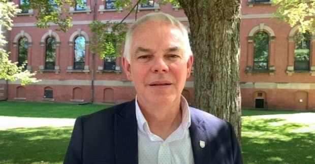 'What pisses me off is that when Islanders brought forward real concerns about their health and safety, they got a scolding from the premier,' says Peter Bevan-Baker, leader of the Official Opposition Green Party.  (YouTube - image credit)