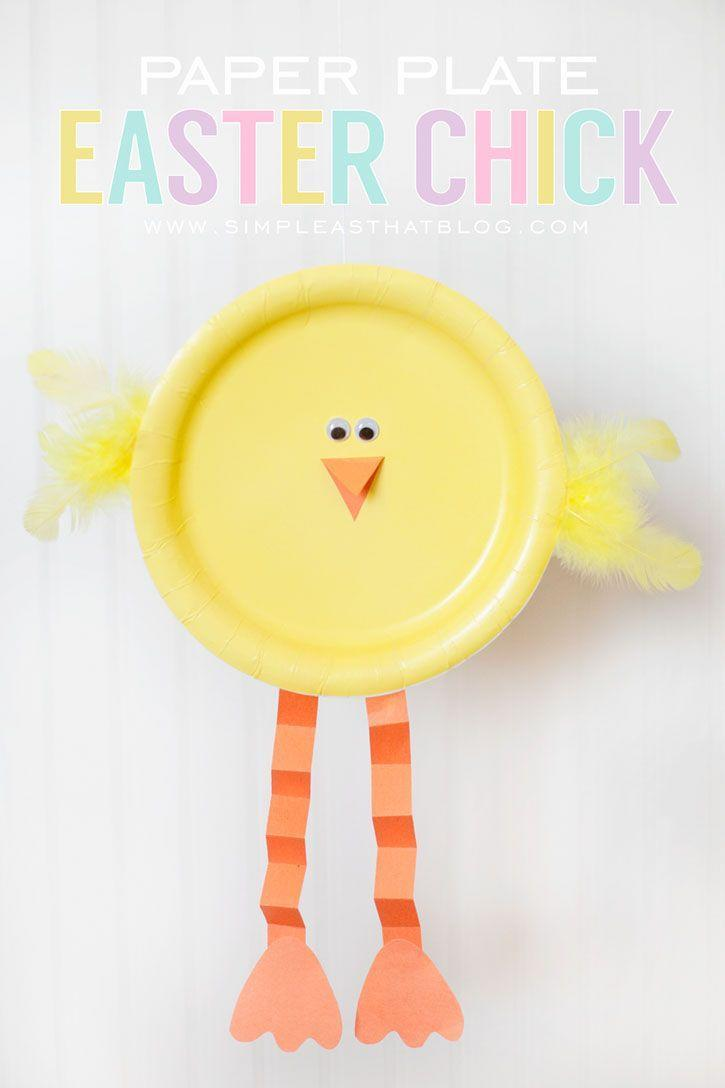 """<p>For this easy craft, your kids can effortlessly upgrade simple yellow dessert plates into cute baby chicks.</p><p><strong>Get the tutorial at </strong><a href=""""http://simpleasthatblog.com/2012/03/simple-easter-craft-paper-plate-easter-chick.html"""" rel=""""nofollow noopener"""" target=""""_blank"""" data-ylk=""""slk:Simple As That."""" class=""""link rapid-noclick-resp""""><strong>Simple As That.</strong></a></p>"""