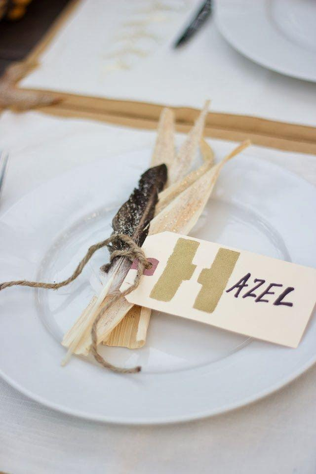 "<p>Inspired by the colors and textures of the fall harvest, these corn and feather place cards deserve a spot at your <a href=""https://www.countryliving.com/life/a25020918/what-day-is-thanksgiving/"" rel=""nofollow noopener"" target=""_blank"" data-ylk=""slk:Thanksgiving"" class=""link rapid-noclick-resp"">Thanksgiving</a> table this year. That gilded first initial is what really makes this design pop.</p><p><strong>Get the tutorial at <a href=""https://designimprovised.com/2013/11/thanksgiving-table-settings.html"" rel=""nofollow noopener"" target=""_blank"" data-ylk=""slk:Design Improvised"" class=""link rapid-noclick-resp"">Design Improvised</a>. </strong></p><p><a class=""link rapid-noclick-resp"" href=""https://www.amazon.com/Darice-Ply-Natural-Jute-28/dp/B00GHSMZUM?tag=syn-yahoo-20&ascsubtag=%5Bartid%7C10050.g.1538%5Bsrc%7Cyahoo-us"" rel=""nofollow noopener"" target=""_blank"" data-ylk=""slk:SHOP TWINE"">SHOP TWINE</a></p>"