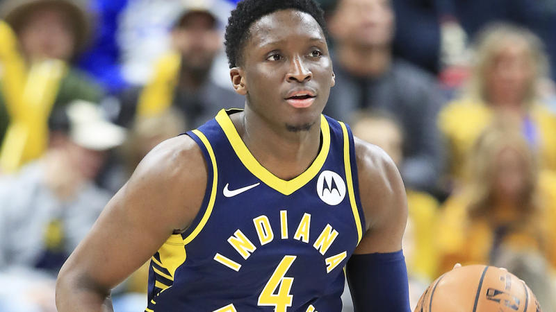 Indiana Pacers guard Victor Oladipo, pictured during the 2018-19 season, is a good option players in for weekly-change leagues. (Photo by Andy Lyons/Getty Images)