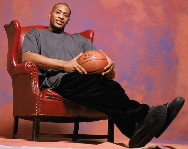 Jamaal Magloire's 2004 All-Star photo shoot is a great photo shoot. (Getty Images)