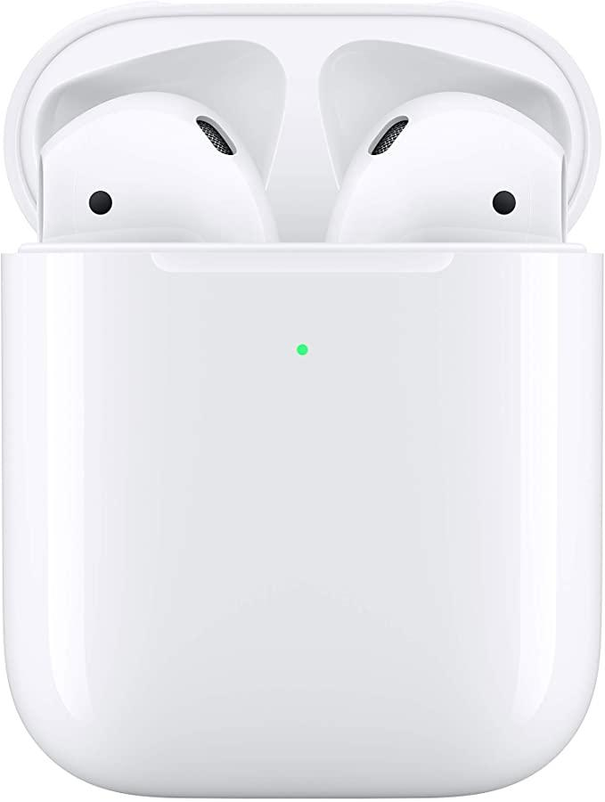 Apple AirPods with Wireless Charging Case. Image via Amazon.