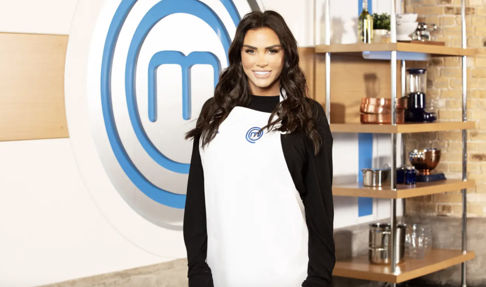 Katie Price is competing on Celebrity MasterChef. (BBC)