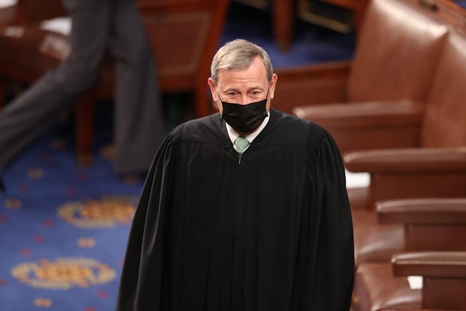 Supreme Court observers say Chief Justice John Roberts tried to keep the partisan temperatures down.
