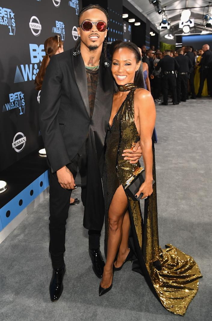 August Alsina and Jada Pinkett Smith at the 2017 BET Awards in Los Angeles. (Photo: Paras Griffin via Getty Images)