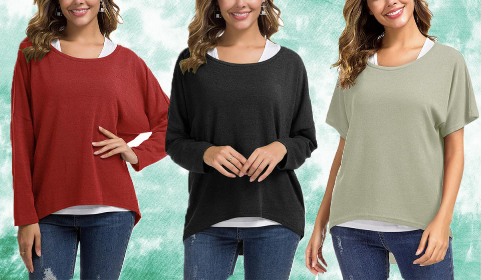 She liked this top so much she had herself cloned so she could buy two more! (Photo: Amazon)
