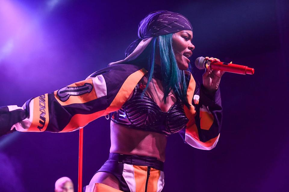 DETROIT, MI - AUGUST 17:  Singer Teyana Taylor performs on stage during the 'Keep That Same Energy' (K.T.S.E.) Tour at The Majestic Theater on August 17, 2018 in Detroit, Michigan.  (Photo by Aaron J. Thornton/Getty Images)