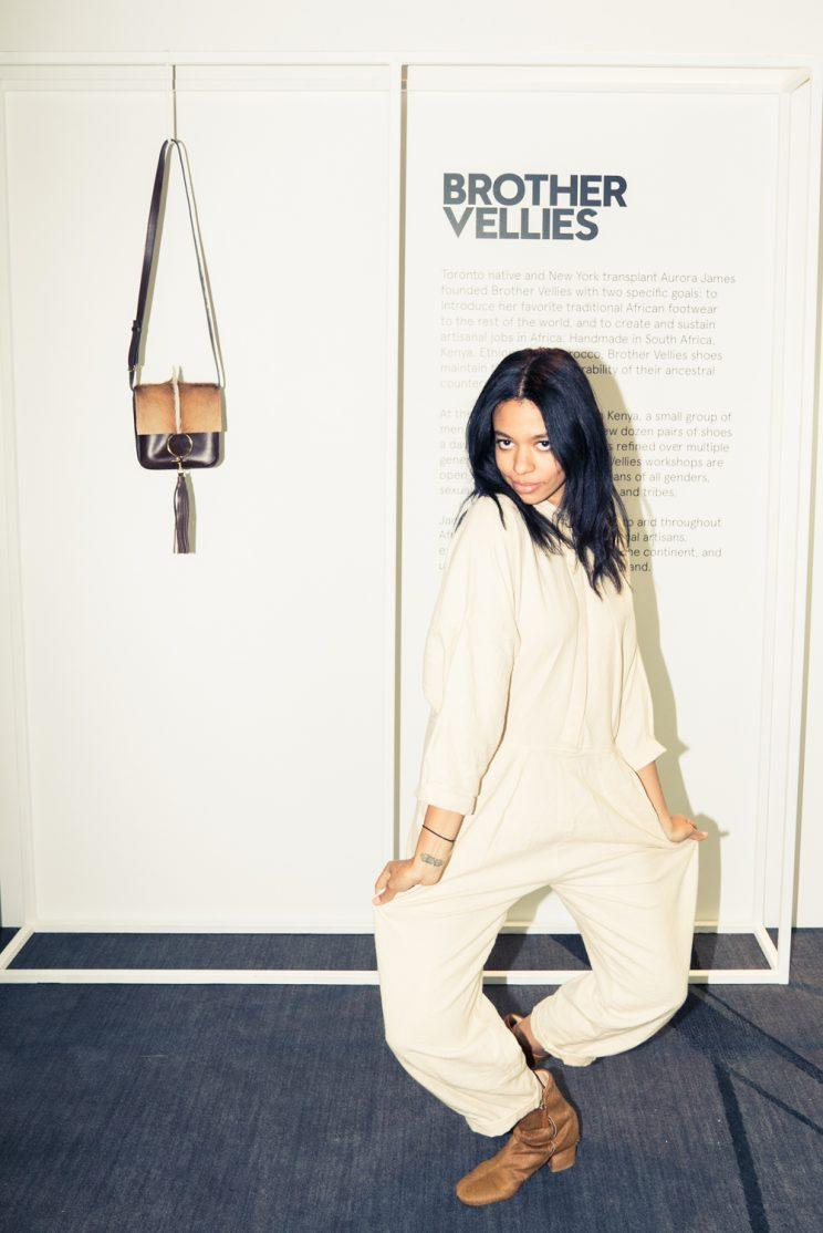 Designer Aurora James of the label Brother Vellies. (Photo: Courtesy of CFDA + W Hotels)