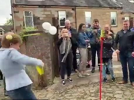 Nicola Sturgeon taken out by a Swingball: Screengrab / Twitter