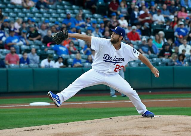 Clayton Kershaw will be back on a major league mound very, very soon. (AP Photo/Sue Ogrocki)