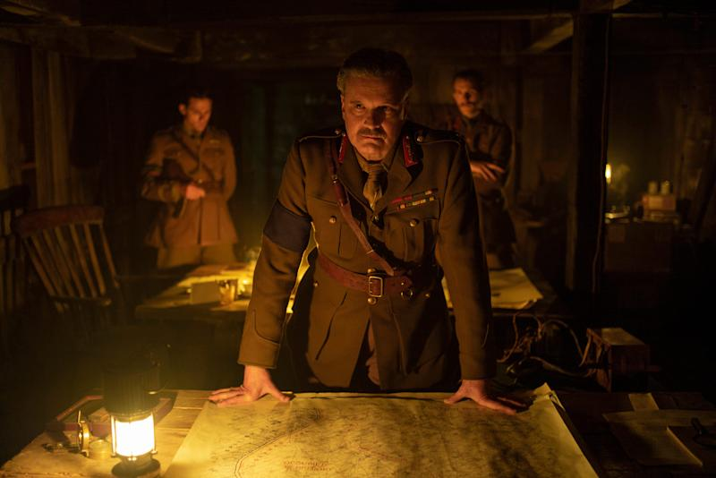 """Colin Firth stars as General Erinmore in """"1917,"""" a new war film Oscar voters are loving."""