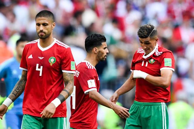 Morocco now know they will be going home at the end of the group phase after two defeats in their first two outings (AFP Photo/Kirill KUDRYAVTSEV)