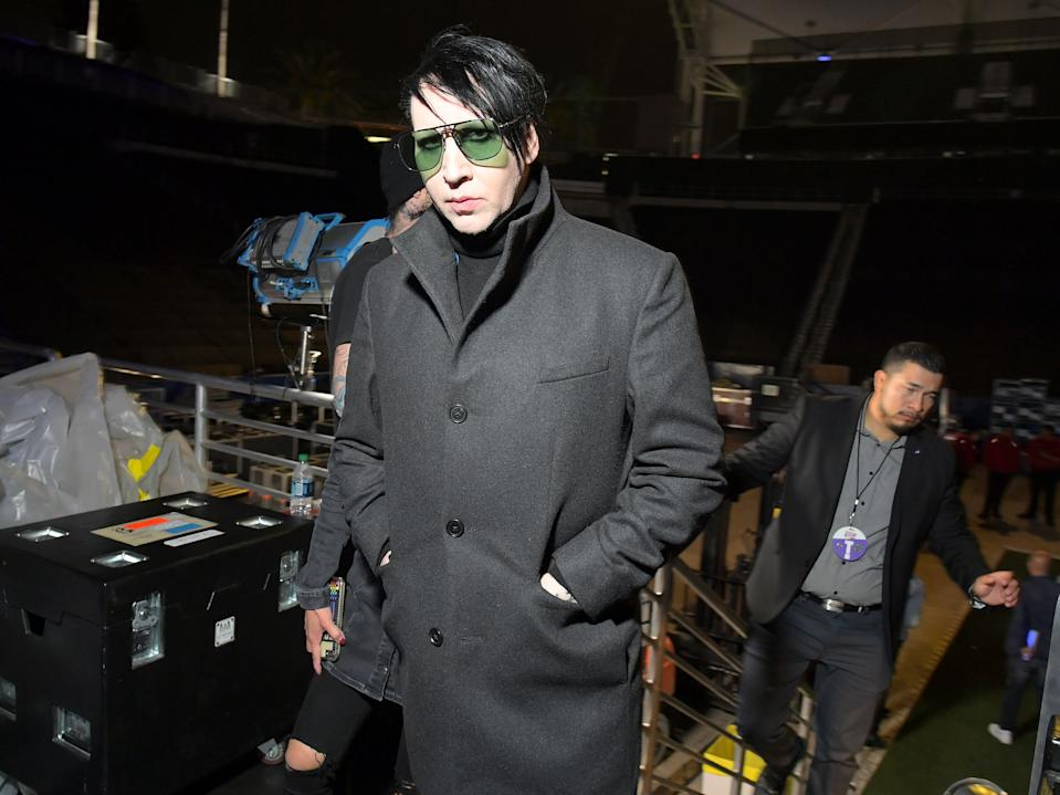 <p>Marilyn Manson sued for sexual assault, sex trafficking by Game of Thrones actor</p> (Getty Images)