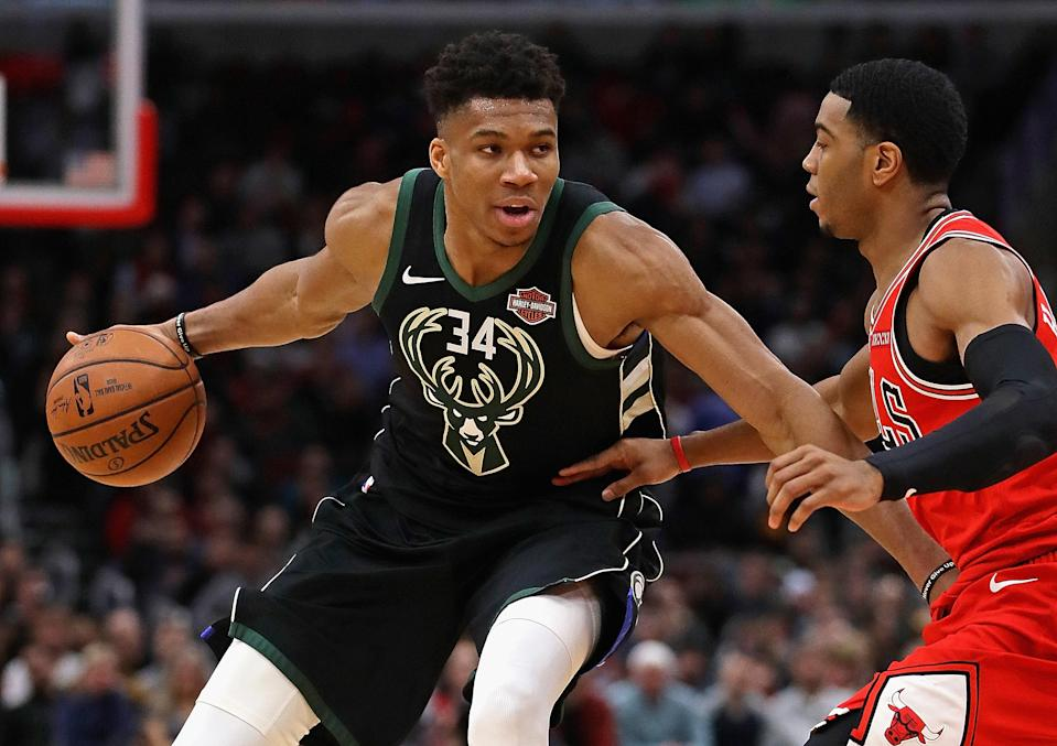 The New York Knicks denied a claim that they failed to scout Giannis Antetokounmpo. (Getty)