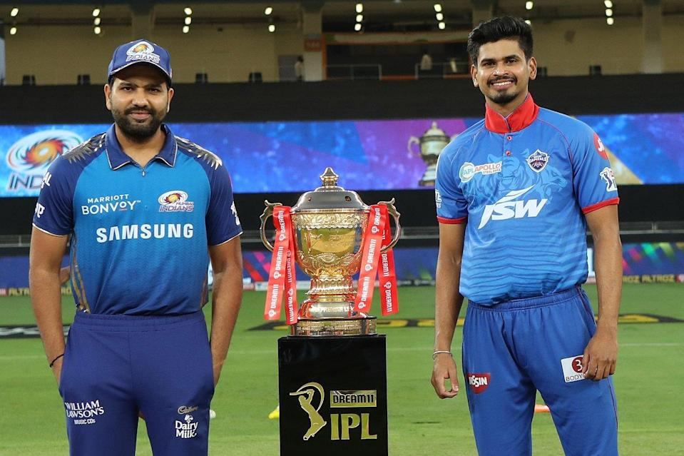 Rohit Sharma and Shreyas Iyer in IPL 2020 final