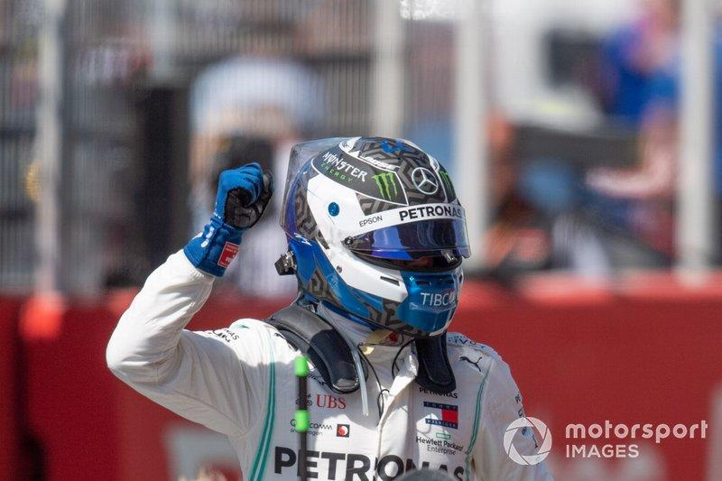 "Valtteri Bottas, Mercedes AMG F1, celebrates pole<span class=""copyright"">Simon Galloway / Motorsport Images</span>"