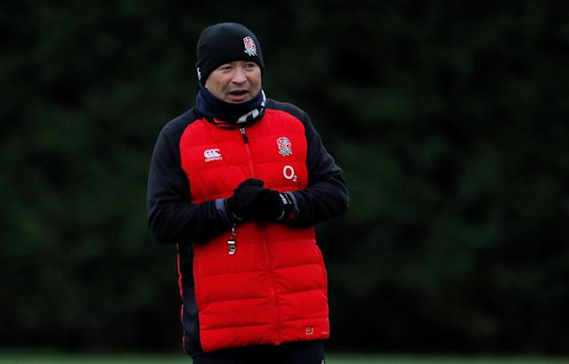 Rugby Union - England Training - Latymer Upper School, London, Britain - February 14, 2018 England head coach Eddie Jones during training Action Images via Reuters/Andrew Couldridge