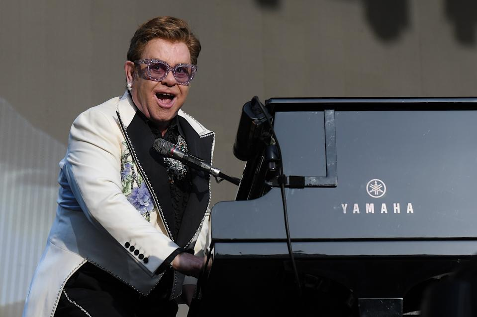 Elton John performs at Mission Estate on February 06, 2020 in Napier, New Zealand. (Photo by Kerry Marshall/Getty Images)