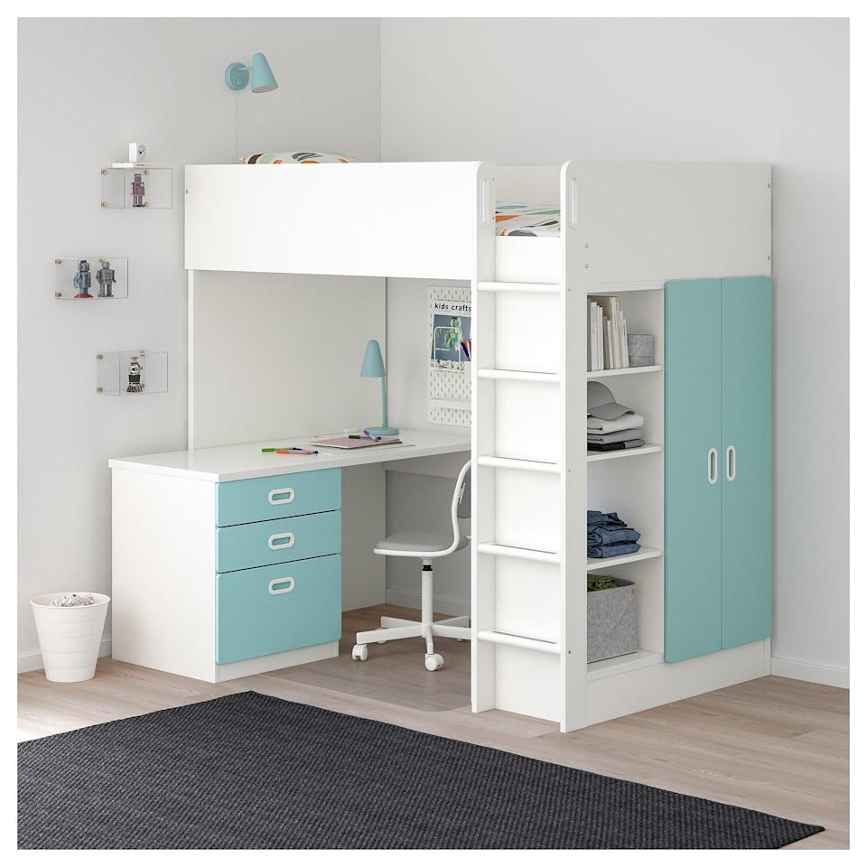 <p>Extra room isn't always an option, but with the <span>Stuva/Fritids Loft Bed </span> ($483), you can create a whole other living space underneath!</p>