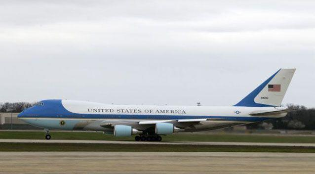 Air Force One departing the base. Photo: AP