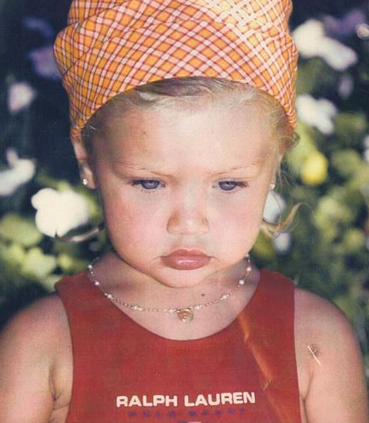 She mastered the pout at a young age. (Photo: Instagram/Gigi Hadid)