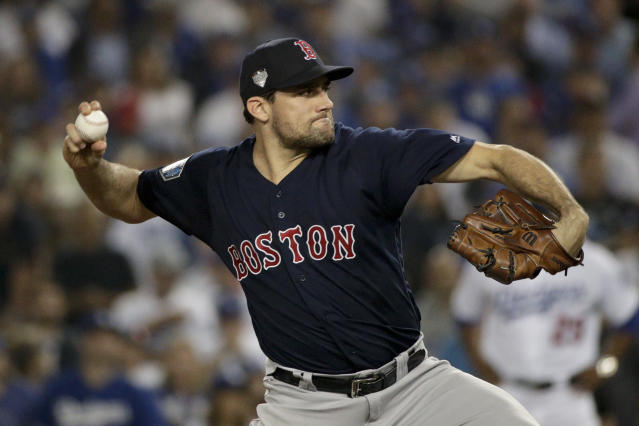 Teams are happily looking past Nathan Eovaldi's prior arm issues to give him a massive free agent payday. (AP)