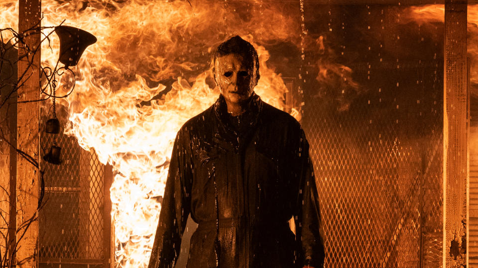 Michael Myers continues his murderous rampage in 'Halloween Kills'. (Ryan Green/Universal Pictures)