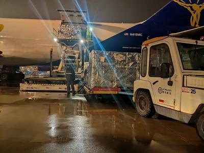 The air cargo arrived in Hangzhou