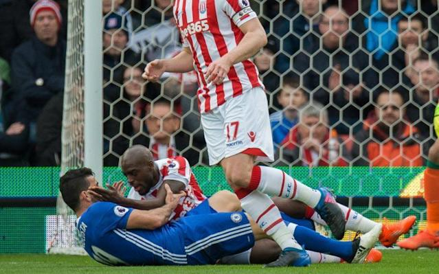 <span>Diego Costa and Bruno Martins Indi clash</span>