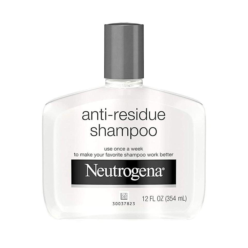 """<p><strong>Neutrogena</strong></p><p>amazon.com</p><p><strong>$8.78</strong></p><p><a href=""""https://www.amazon.com/dp/B072569DNX?tag=syn-yahoo-20&ascsubtag=%5Bartid%7C2089.g.36410459%5Bsrc%7Cyahoo-us"""" rel=""""nofollow noopener"""" target=""""_blank"""" data-ylk=""""slk:Shop Now"""" class=""""link rapid-noclick-resp"""">Shop Now</a></p><p>On a budget? That doesn't mean you have to sacrifice the look and feel of your hair. Use this under-$10 clarifying shampoo every week to instantly remove up to 90% of heavy, dulling residue from your strands. </p><p>Although its formula is tough on grease and oil, it's still gentle and mild enough for the most sensitive scalps to use every week.</p>"""