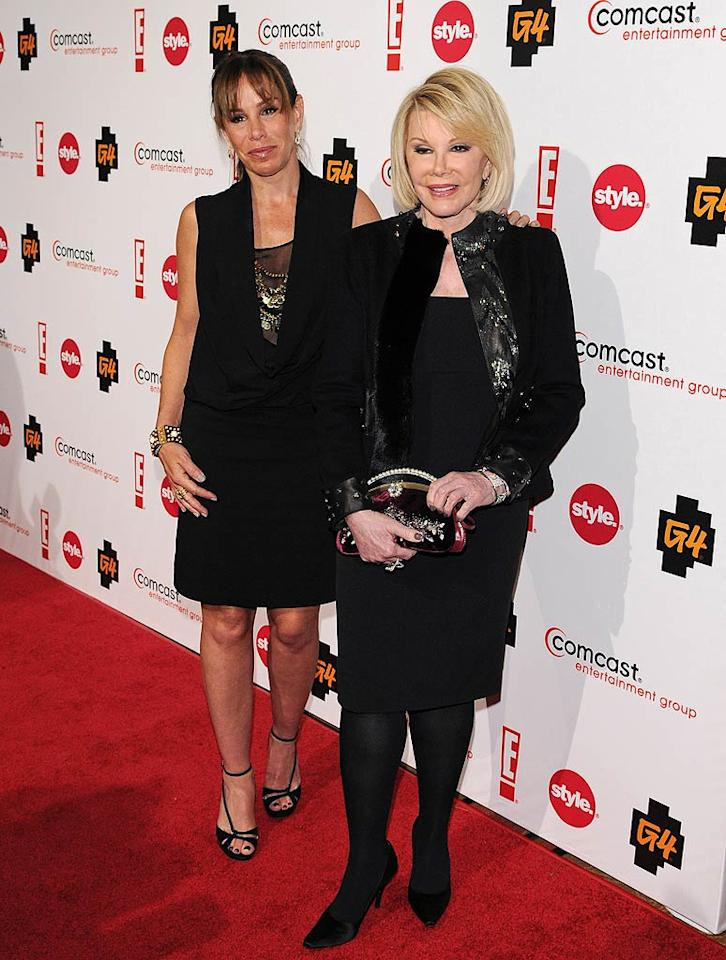 "What's a red carpet without Joan Rivers and her daughter Melissa? Jean Baptiste Lacroix/<a href=""http://www.wireimage.com"" target=""new"">WireImage.com</a> - January 5, 2011"
