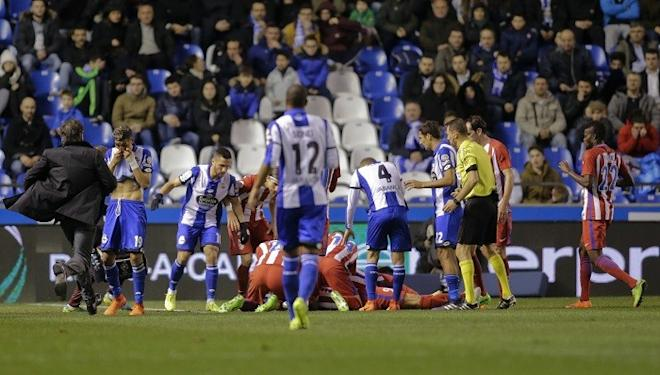 Fernando Torres, head injury, Torres knocked out, Atletico Madrid, La Liga