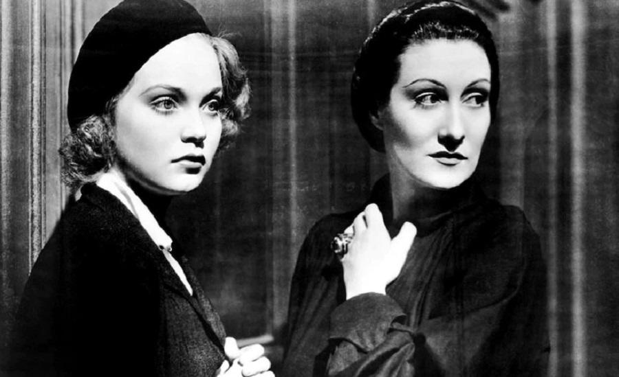 Gloria Holden (R) evokes remorseful vampirism for the first time on screen in 1936's Dracula's Daughter.