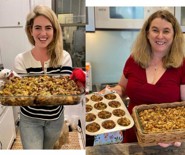 PHOTO: Kelly McCarthy and her mom Lori McCarthy both prepared a family stuffing recipe for Thanksgiving from across the country. (Katherine McCall, Dan McCarthy)