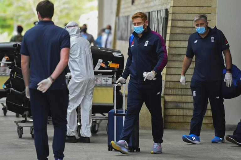 England's Jonny Bairstow (C) said touring was tough during the pandemic