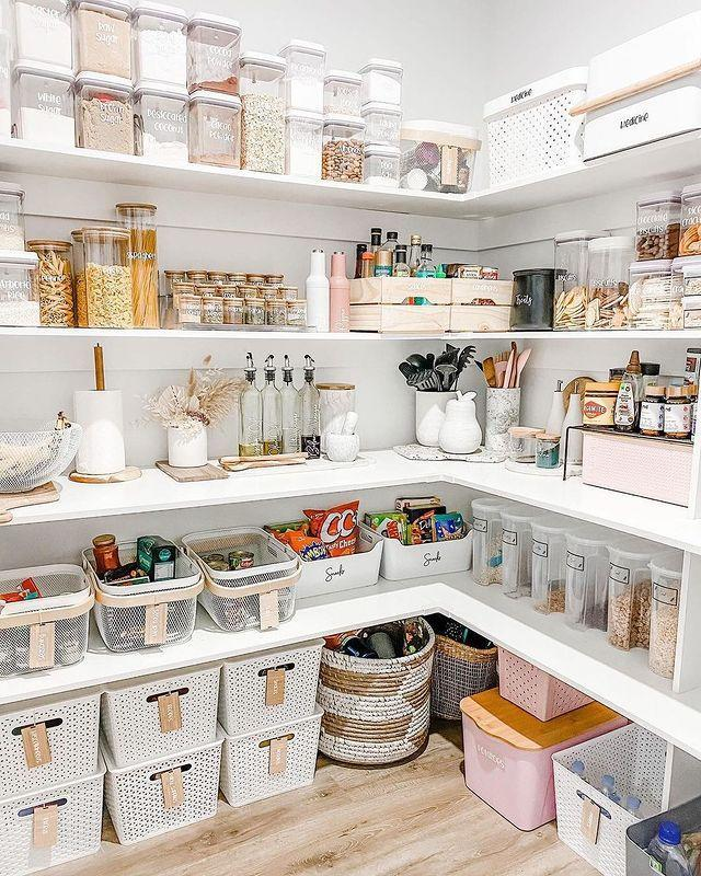 "<p>As we've all stocked up on more pantry staples than we know what to do with, <a href=""https://www.southernliving.com/home/organization/how-to-organize-pantry"" rel=""nofollow noopener"" target=""_blank"" data-ylk=""slk:organization"" class=""link rapid-noclick-resp"">organization</a> of this important space in our homes is key. While walk-in pantries are amazing, they're usually not an option in smaller homes or apartments. That's where functional touches like expandable shelves, lazy Susans, and pull-out drawers and shelves come in. ""Thanks to the rise of shows like <em>The Home Edit </em>and <em>Tidying Up with Marie Kondo</em>, we're all realizing that less is more,"" says Stevens—as long as it's organized.</p>"