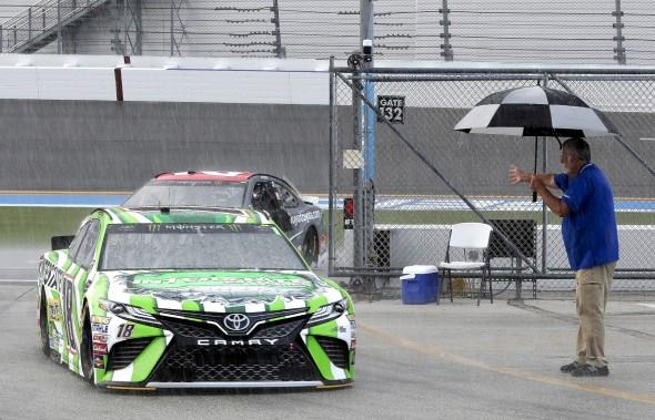 Rain at Indy pushes NASCAR finale to Monday
