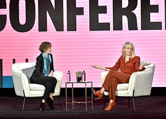 Judy Blume and Chelsea Handler speak onstage during The 2020 MAKERS Conference on February 11, 2020 in Los Angeles, California. (Photo by Emma McIntyre/Getty Images for MAKERS)