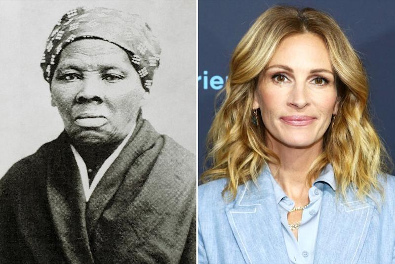 Harriet Tubman; Julia Roberts | Universal History Archive/Universal Images Group via Getty; Tommaso Boddi/FilmMagic