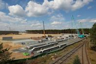 Despite local resistance, construction has been completed in double-quick time (AFP/Odd ANDERSEN)