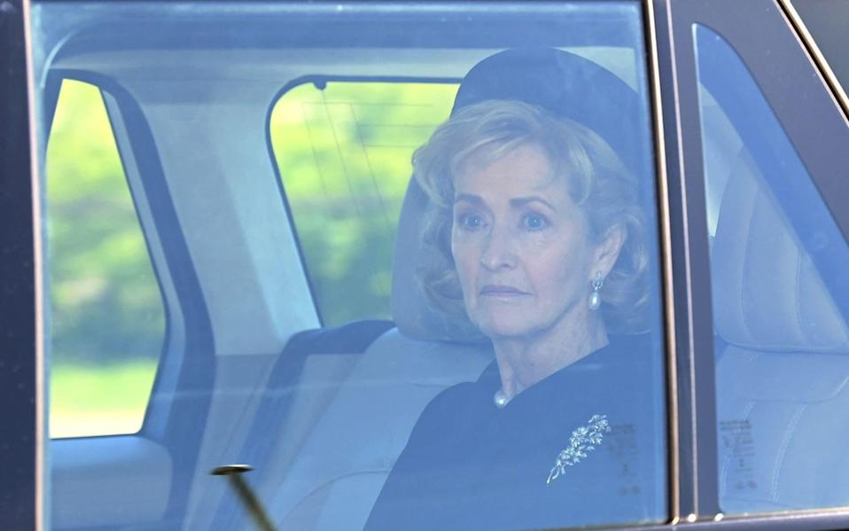 Countess Mountbatten arrives for the funeral service of Prince Philip in Windsor - AFP