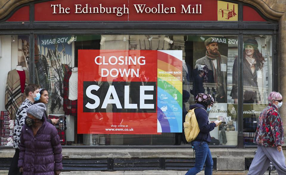 The Edinburgh Woollen Mill shop in Oxford which is closing down. (Photo by Steve Parsons/PA Images via Getty Images)