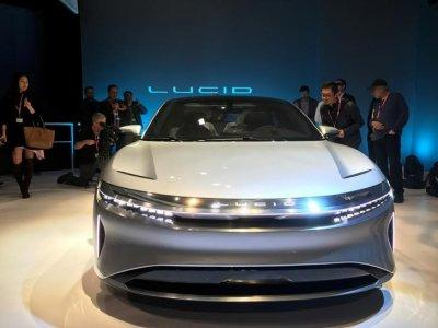 California-based Lucid Motors unveiled a prototype of a luxury sedan the Lucid Air at its unveiling in Fremont, California, U.S., December 14, 2016. REUTERS/Alexandria Sage