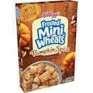 """<p><strong>Frosted Mini-Wheats</strong></p><p>amazon.com</p><p><strong>$11.97</strong></p><p><a href=""""https://www.amazon.com/dp/B07Q2363ZF?tag=syn-yahoo-20&ascsubtag=%5Bartid%7C10063.g.37661227%5Bsrc%7Cyahoo-us"""" rel=""""nofollow noopener"""" target=""""_blank"""" data-ylk=""""slk:Shop Now"""" class=""""link rapid-noclick-resp"""">Shop Now</a></p><p>There's pumpkin spice flavors even for the kiddos in cereal form. </p>"""