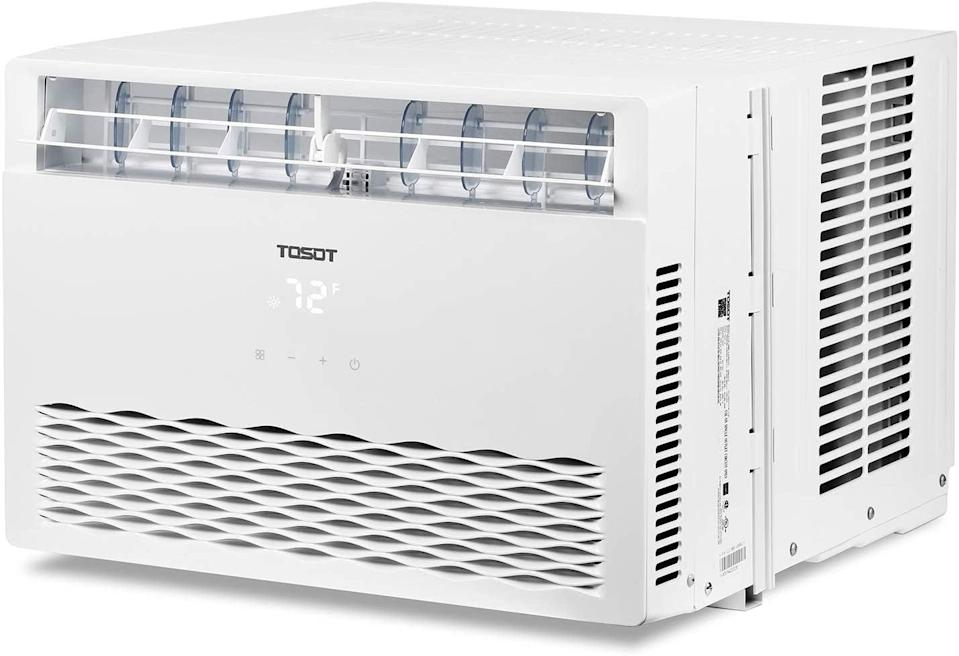 <p>The minimalistic <span>Tosot 8000 BTU Window Air Conditioner</span> ($300) has an elegant, simple design. It also has a dehumidifying-only mode, for those long, muggy summer days when the air feels dense and heavy. </p>